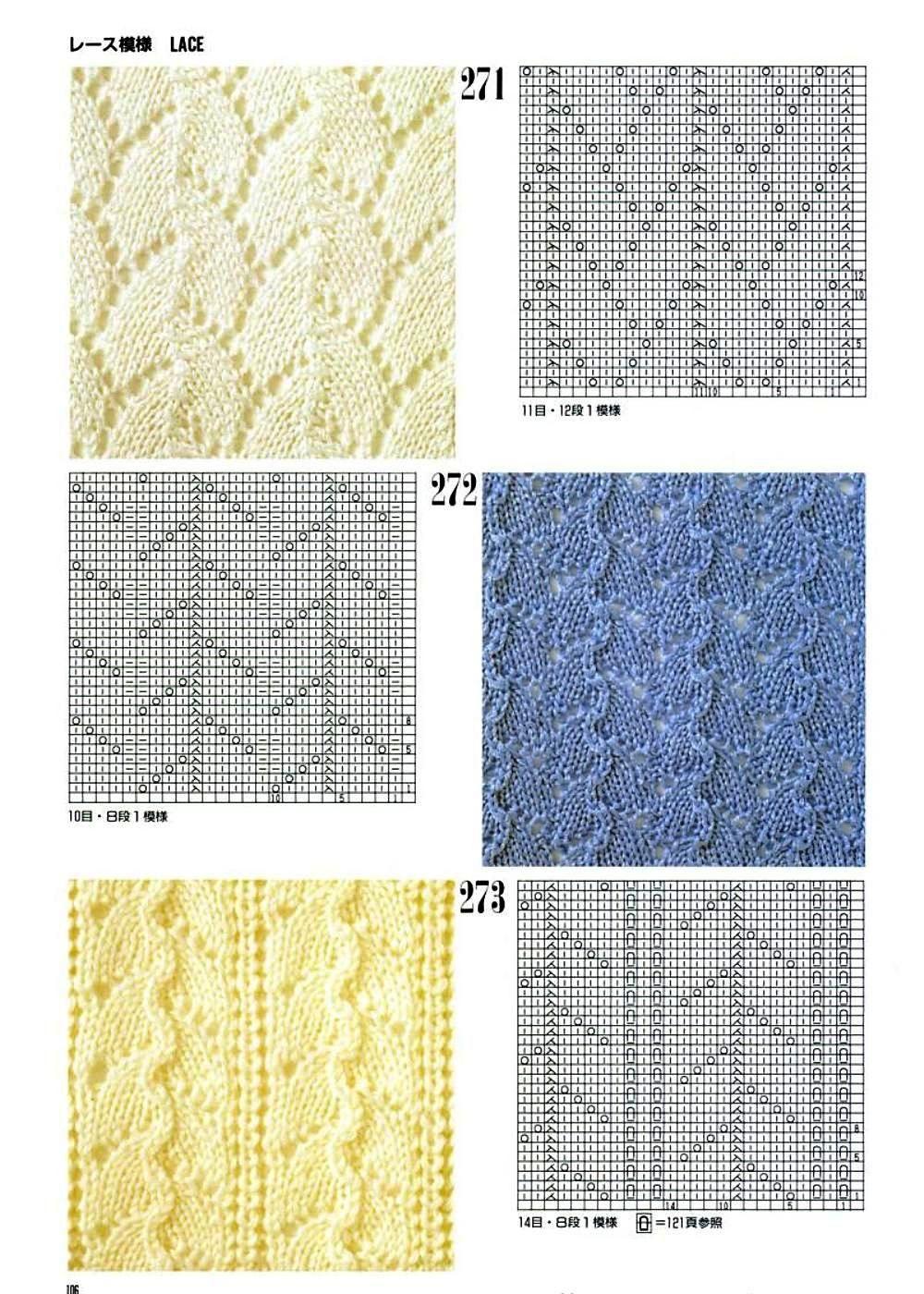 Вязание на спицах по японским схемам